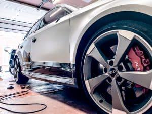 Audi RS3 en cours de covering